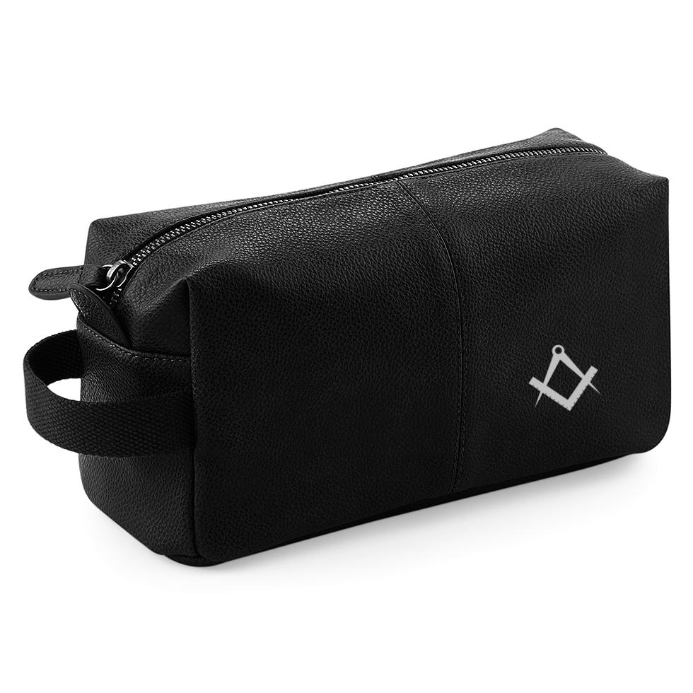 Black masonic Wash Bag