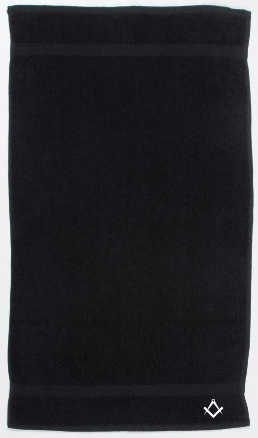 Freemasons Hand Towel Black