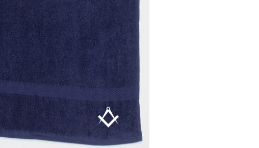 Freemasons Hand Towel Blue cat