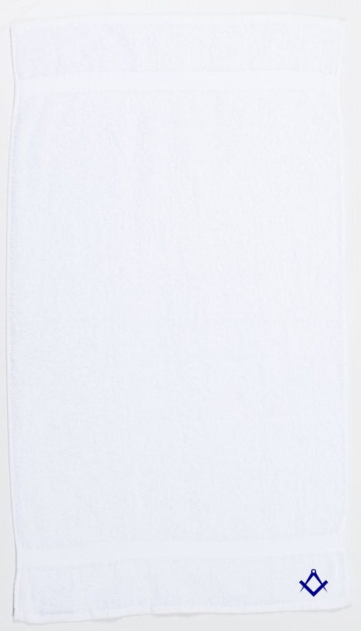 Freemasons Hand Towel White